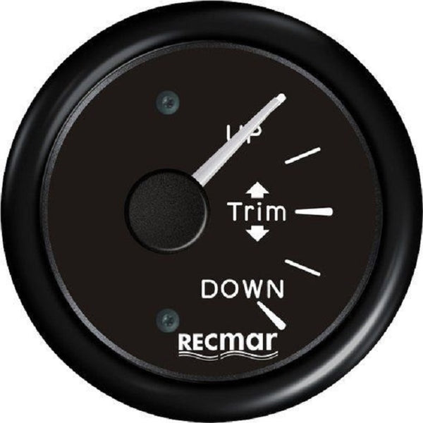 Black Trim Gauge For Outboard Mercury Mariner Yamaha Suzuki