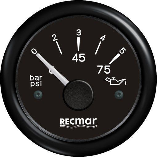 OIL PRESSURE 10-184º 0/5 BAR BLACK For Outboard Mercury Mariner Yamaha Suzuki