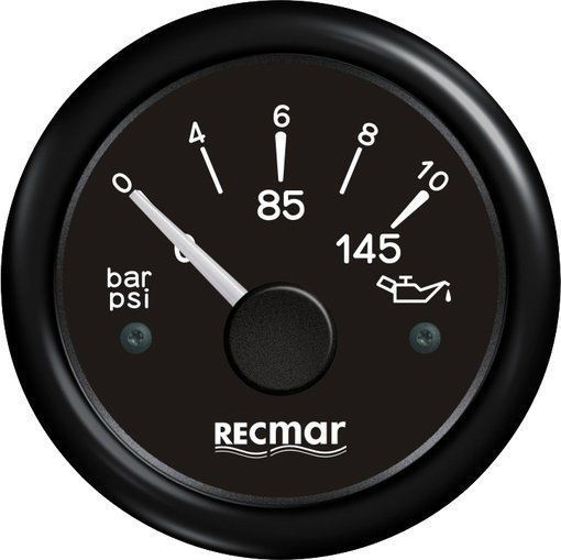 OIL PRESSURE 10-184º 0/10 BAR BLACK For Outboard Mercury Mariner Yamaha Suzuki