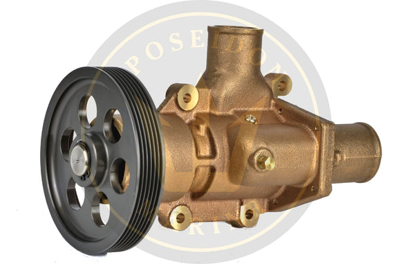Water Pump for Volvo Penta D6 Pump 3589907 21380890 3583609 3593573 w/Hose Connection on Cover