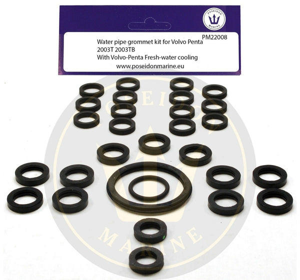Cooling pipe gaskets for Volvo Penta 2003T 2003TB fresh water cooled water pipe