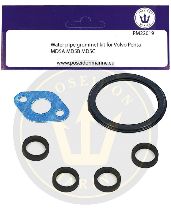 876224 Water pipe seal kit for Volvo Penta 2001 2002 2003 *except turbo* RO