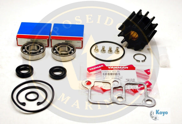 Water pump repair kit for Yanmar 6LP inc: 119773-42600 for pump 119773-42500/01/02