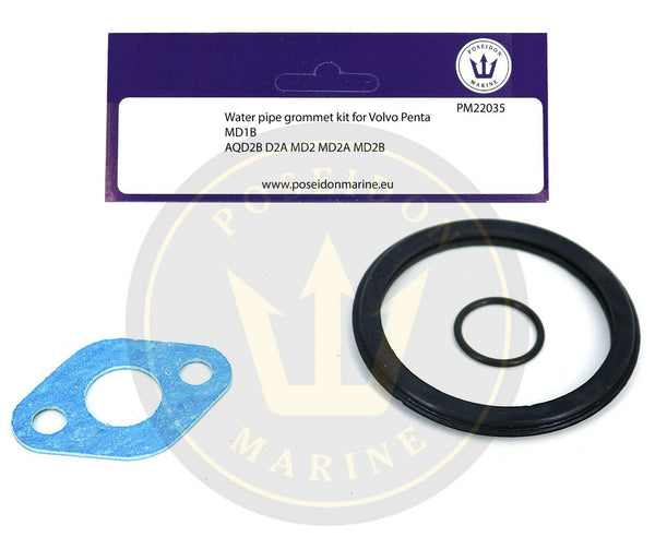 Water pipe seal kit for Volvo Penta MD1B AQD2B D2A MD2 inc.: 800326 859107