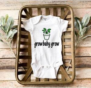 Plant Onesie/ Grow Baby Grow/ Plant baby Onesie/ Gender Neutral Baby Onesie/ Baby shower gift