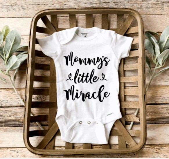 Mommy's Little Miracle Onesie®/ Preemie Baby Onesie®