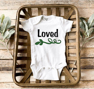 Plant baby Onesie /Loved Baby/Plant Baby girl/baby shower gift/ Plant Baby love/Preemie Baby Clothes
