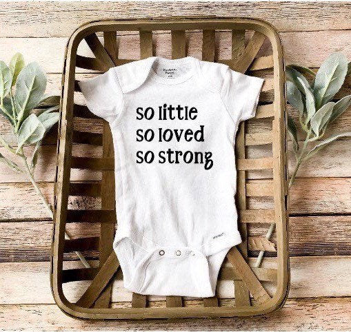 So little So strong/Strong Baby/ Preemie girl clothes/Preemie boy clothes/ Baby boy/Baby girl