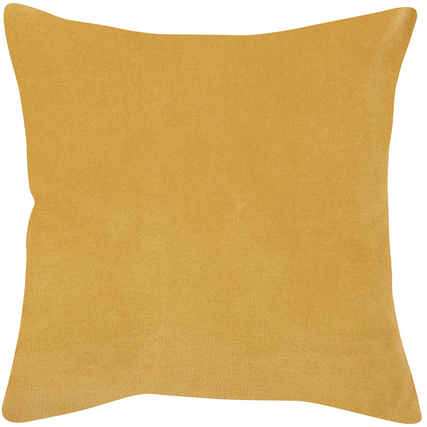 mustard yellow velvet cushion