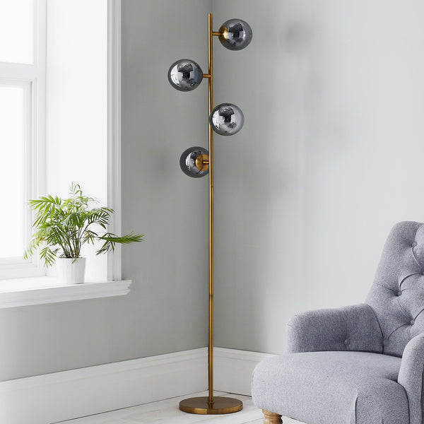 Sphere Gold Floor Lamp
