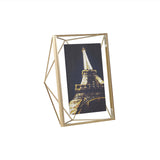 5x7 brass photo frame - geometrical design