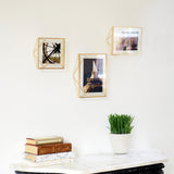 5x7 brass photo frame on gallery wall