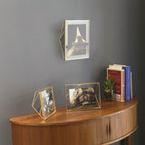 5x7 brass photo frame on the wall