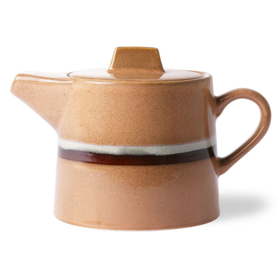 70s tea pot in peach