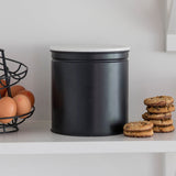 biscuit tin with marble lid