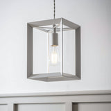 contemporary pendant light close up