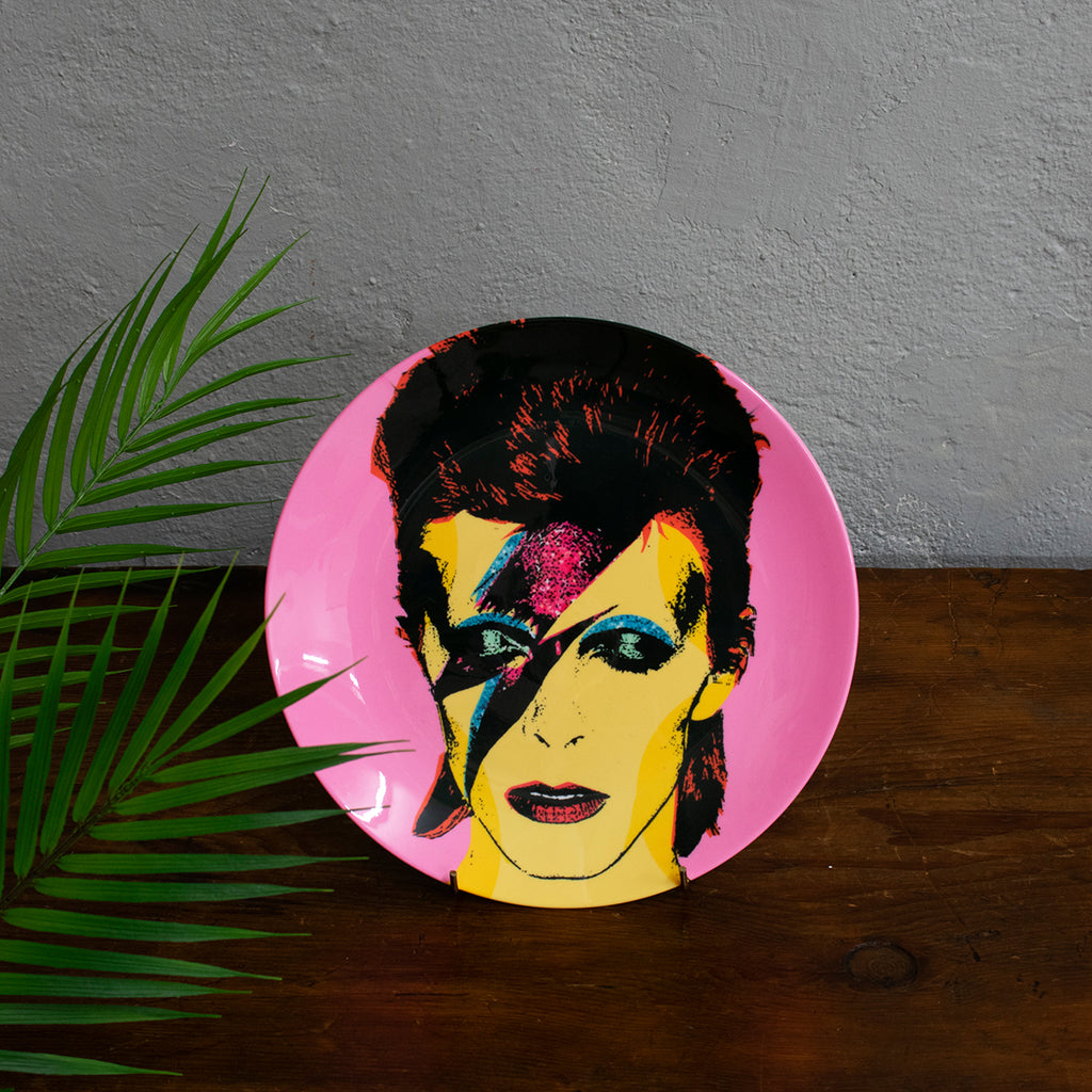 David Bowie ceramic plate