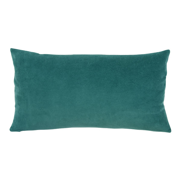 Elise teal velvet cushion