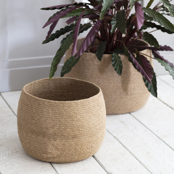 set of 2 jute baskets