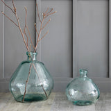 recycled glass bubble vase extra large