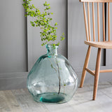 recycled glass bubble vase
