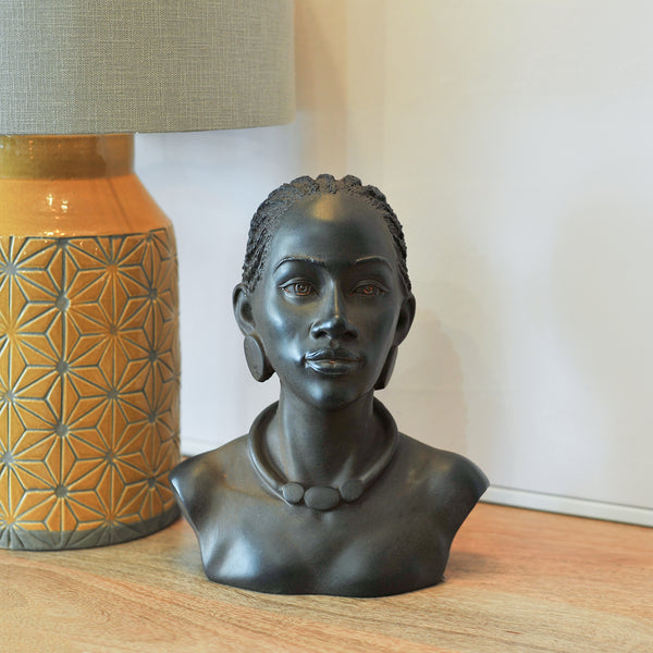 african resin bust