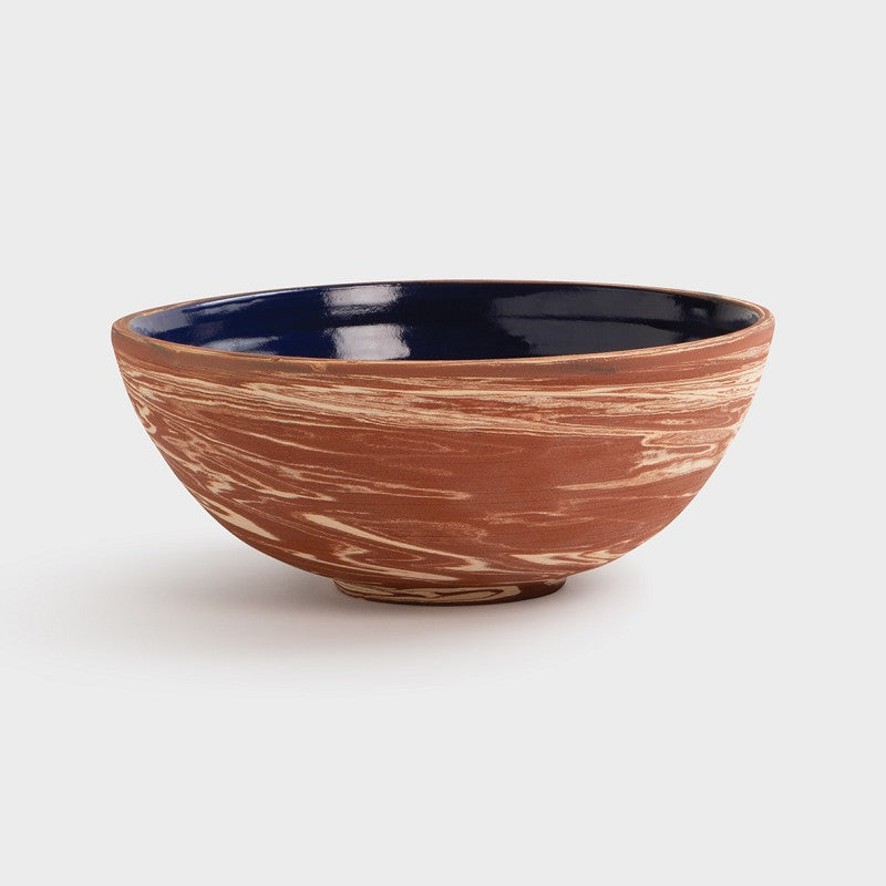 stoneware and terracotta bowl