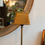 antique style brass table lamp close up