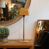 antique style brass table lamp