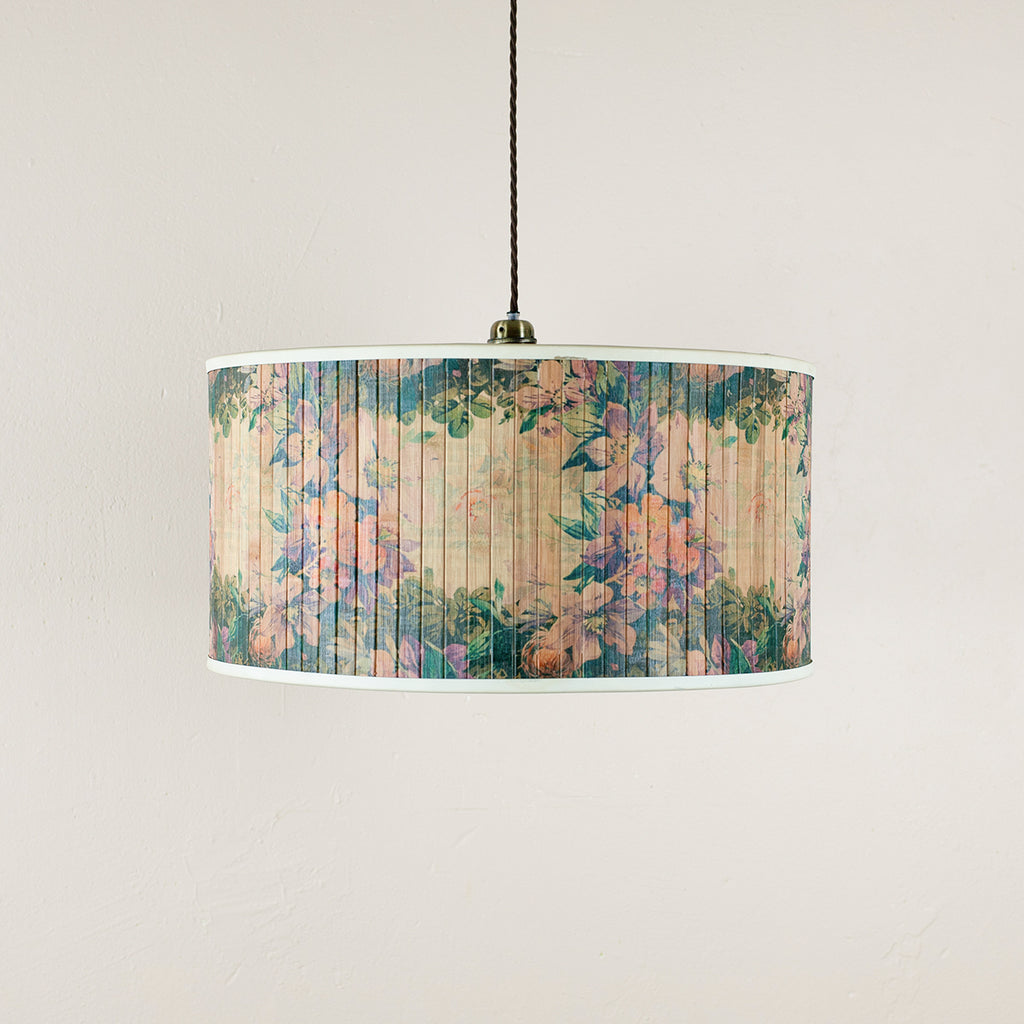 floral bamboo pendant light