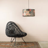 black bamboo floral pendant light details