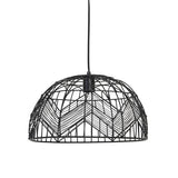black geometric pendant light close up
