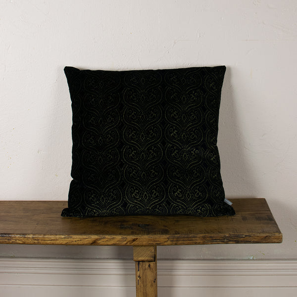 black and gold cushion