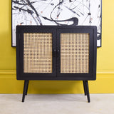 black retro cabinet 2 shelves