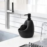 black ceramic soap dispenser