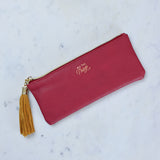 burgundy pencil case