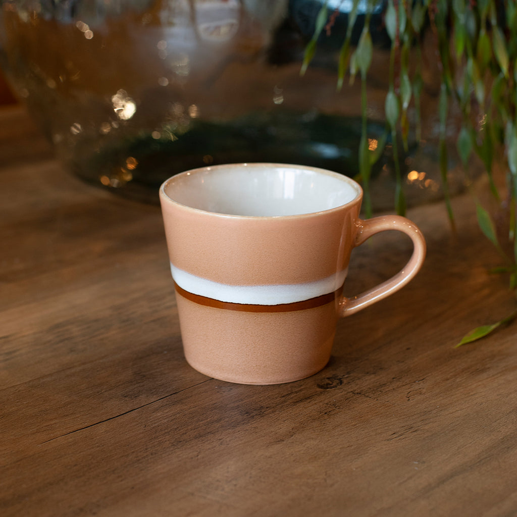 70s cappuccino mug in peach