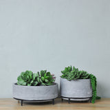concrete planters with stands