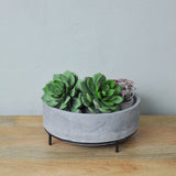 large concrete planter close up