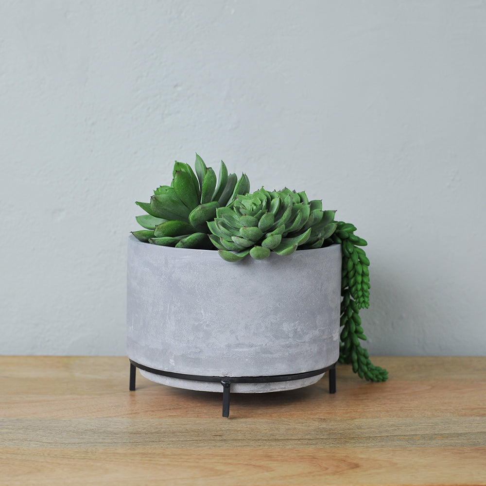 concrete planter with stand