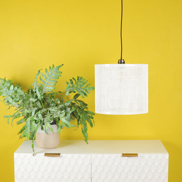 sinamay cream lampshade