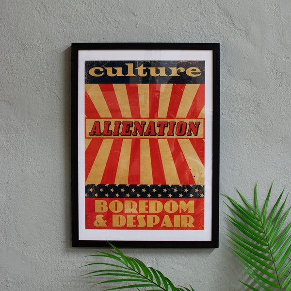culture alienation boredom retro print