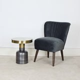 grey velvet cocktail chair