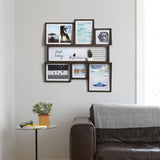 dark wood multi frame - large