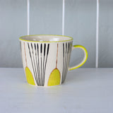yellow deco tulip mug