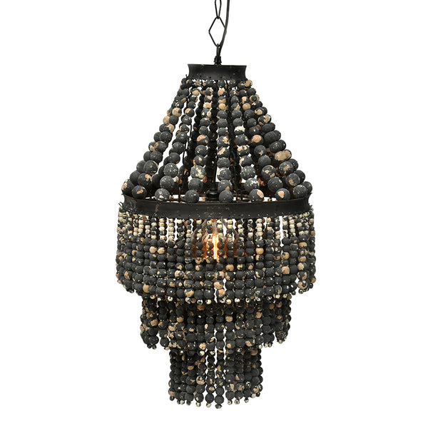 Distressed Beaded Chandelier