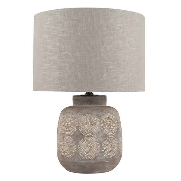 embossed stoneware table lamp