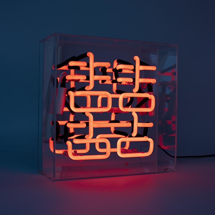 double happiness neon light box