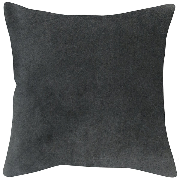 Elsi grey velvet cushion