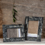 grey floral picture frame